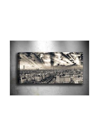 Chic Life Chic Life Siyah-Beyaz Paris Kanvas Tablo- 30*90 cm Siyah
